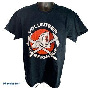 🚒 Volunteer Firefighter Tshirt Size Large Black
